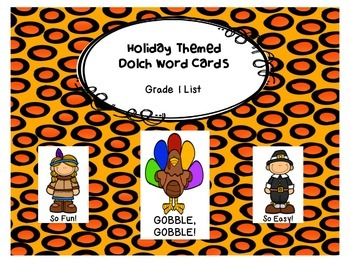Gobble, Gobble! Grade 1 Dolch Word Game