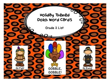 Gobble, Gobble! Grade 2 Dolch Word Game