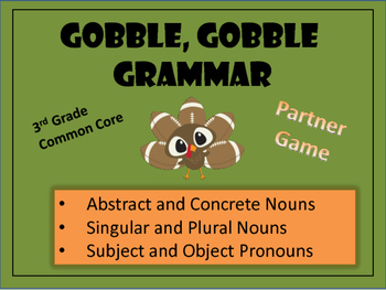 Gobble, Gobble Grammar - Thanksgiving Review Game