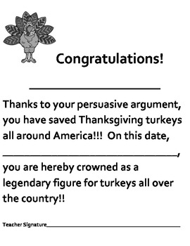 Gobble, Gobble, Gulp!  Thanksgiving Writing Activity