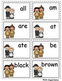 Gobble Gobble Kindergarten Sight Word Card Game