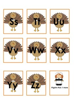 Gobble Gobble Letter Recognition game