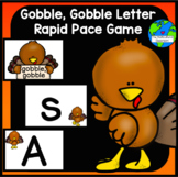Gobble, Gobble Letter name and Letter Sound Game in Spanish and English