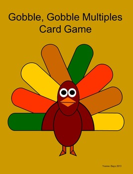 Multiples Card Game: Gobble, Gobble Multiples Card Game (w/o Thanks giving hat)