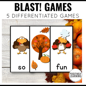 Gobble, Gobble! Phonics and Sight Word Blast Game for Thanksgiving