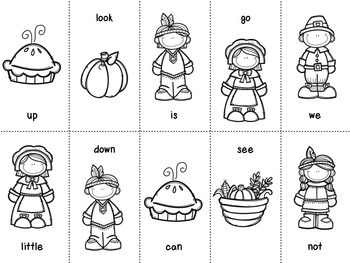 Gobble, Gobble! Pre-Primer Dolch Word Game