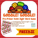 Thanksgiving Pre-Primer Sight Word Game FREEBIE