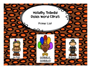Gobble, Gobble! Primer Dolch Word Game