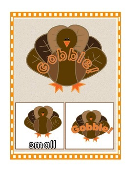 Gobble Gobble [READING STREET-UNIT 1 SIGHT WORDS}