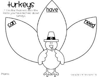 Gobble Gobble {Sight Word Craftivity and More!}
