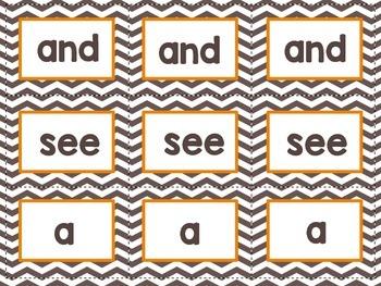 Gobble! Gobble! Sight Word Game - Kindergarten