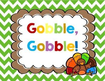 Gobble! Gobble! Sight Words