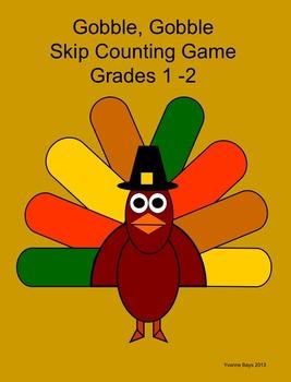 Skip Counting Thanksgiving Theme: Gobble, Gobble Grades 1 -2