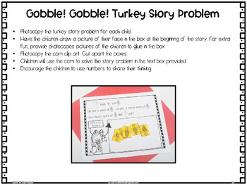 Thanksgiving Turkey - Activities for Math and Literacy