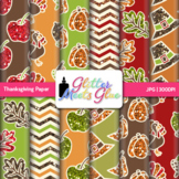 Thanksgiving Clip Art | Fall Scrapbook Backgrounds for Seasonal Task Cards