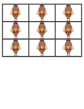 Gobble, Gobble Thanksgiving Reading Game: Short Vowels