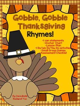 Gobble, Gobble, Thanksgivng Rhyme!