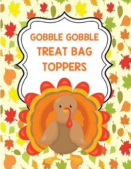 Gobble Gobble Treat Bag Toppers