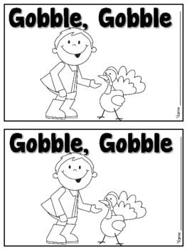 Gobble Gobble Turkey Color Emergent Reader