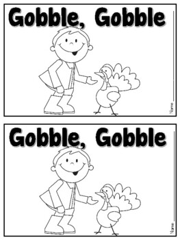 Gobble Gobble Turkey Color Emergent Reader