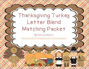 Turkey Phonics Letter Blend Matching Packet