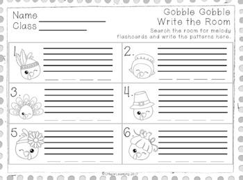Gobble Gobble Write the Room sol-mi edition
