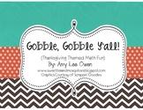 Gobble, Gobble Y'all! (Thanksgiving Math Fun)
