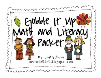 Gobble It Up Math and Literacy Packet