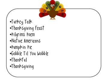 Thanksgiving Poem Pack