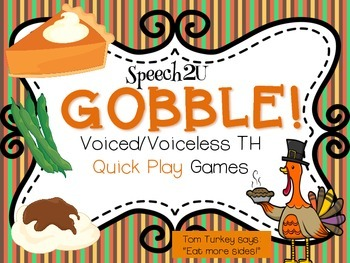 Gobble: TH Articulation Activity