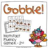 Gobble! Turkey Math Fact Fluency Card Game | Addition and Subtraction within 20