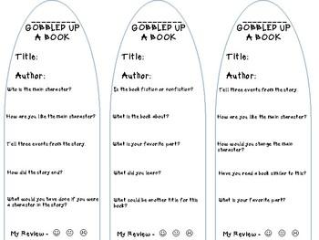 Gobble Up Books Reading Challenge