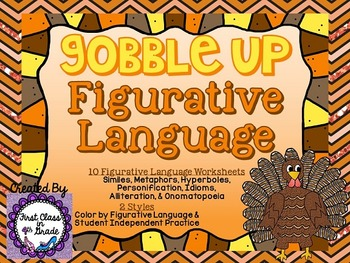 Gobble Up Figurative Language (Thanksgiving Literary Device Unit)