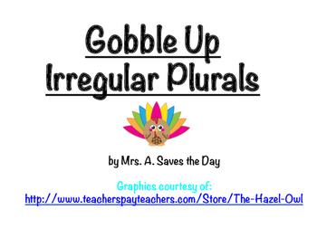 Gobble Up Irregular Plurals Activity