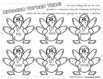 Gobble Up Some Synonym Turkey Time!