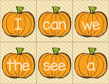 Gobble Up Those Sight Words