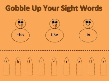 Gobble Up Your Sight Words