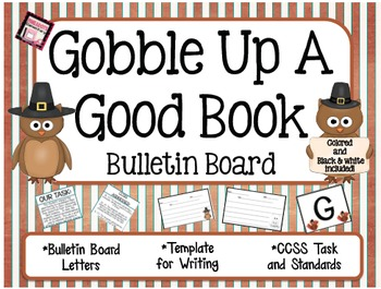 *Gobble Up a Good Book* a Fall/Thanksgiving Bulletin Board activity