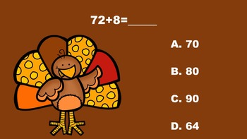 Gobble With Double Digit Addition/Subtraction - PowerPoint Game