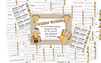 Gobble Wobble: Fry Phrase Game for Bigger Kids