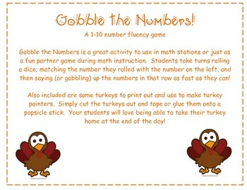 Gobble the Numbers 1-10