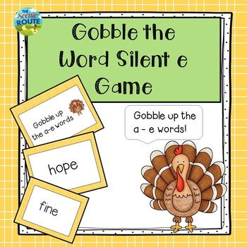 Gobble the Word Silent e Game