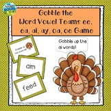 Gobble the Word Vowel teams ai/ay, ee/ea, oe/oa Game