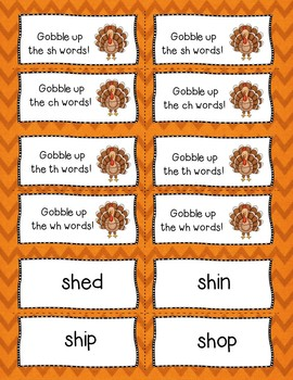 Gobble the Word Digraph Sounds Game