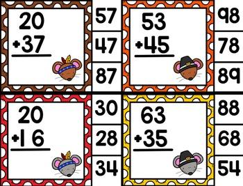 Gobble 'til You Wobble Thanksgiving Print & Play Math Stations