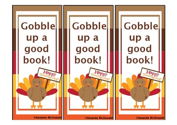 Gobble up a Good Book Bookmark