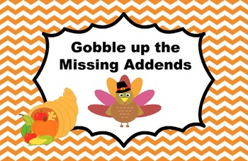 Gobble up the Missing Addends