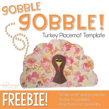 Turkey Place Mat Free Thanksgiving Craft