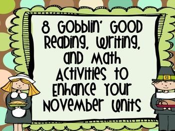 Gobblin' Good Math, Reading, and Writing Activities