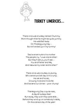 Gobblin' Good Thanksgiving Limericks